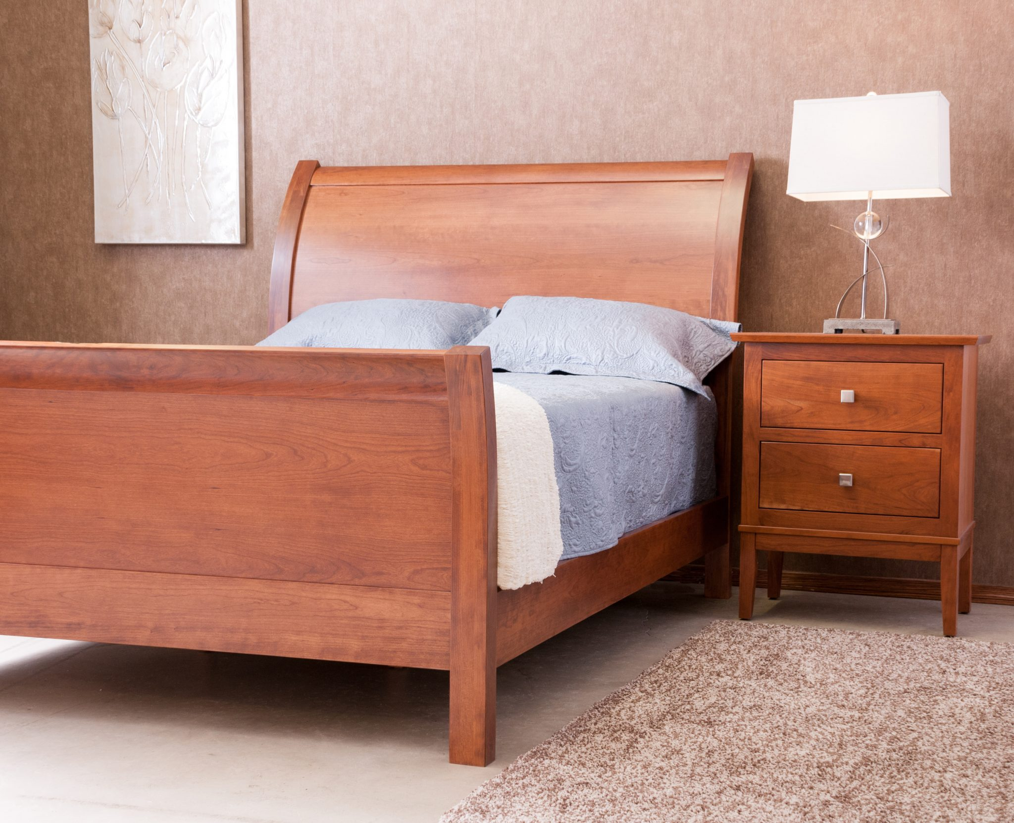 Sleigh Bed 8518